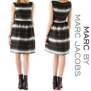 MARC by Marc Jacobs Lida Striped Dress Oatmeal 10